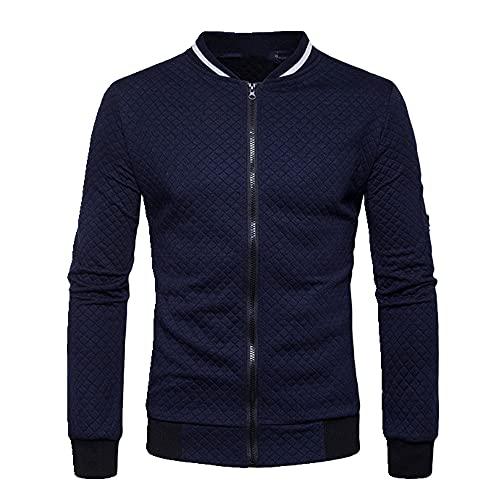 Alta felpa Zip stand collar casua chaqueta de los hombres de la calle cortavientos abrigo hombres