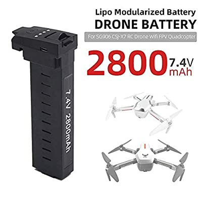 YUNIQUE UK Lipo Battery 7.4V 2800mAh Modular Drone Battery for SG906 CSJ-X7 RC Drone WiFi FPV Quadcopter