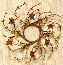 Mini Pip & Rusty Star Candle Ring/Wreath