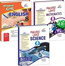 Olympiad Champs Science, Mathematics, English Class 8 with 15 Mock Online Olympiad Tests (