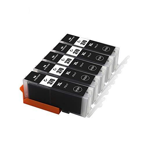 J-ECO製 BCI-370XLBK ブラック お得な5本セット 大容量 ISO14001、ISO9001、CE、SGS認証工場 キヤノン用 互換インクカートリッジ 残量表示 (BCI-370 BCI-371 BCI-370XL BCI-371XL BCI-370XLBK BCI-371XLBK)