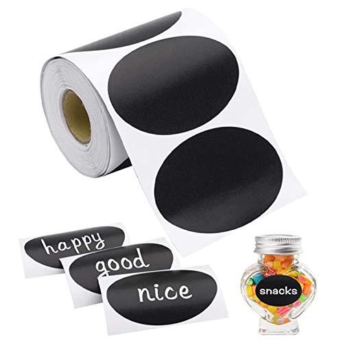 120 Etiquetas De Pizarra Tablero De Tiza Mason Jar Etiquetas Etiqueta De Pegatina De Pizarra Impermeable Extraíble para Tarros