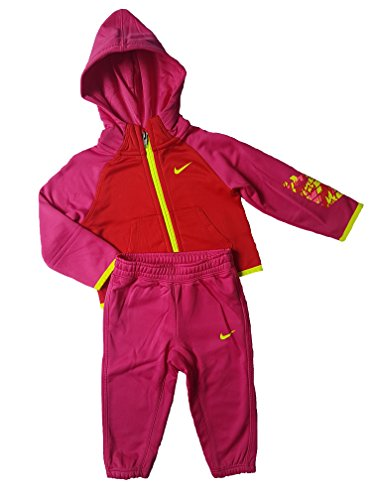 Nike Kinderanzug Dri-Fit Neu Kids Jacke und Hose (12-18 Monate, Pink/Rosa)
