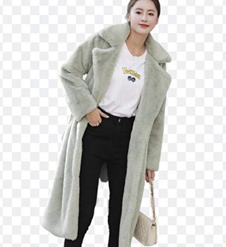 ZYLL Frauen Arbeiten Winter-Faux-Pelz-Mantel-Dame-Casual Outdoor-Jacke Parka Plus Size Winter-Oberbekleidung XS-2XL,H,M