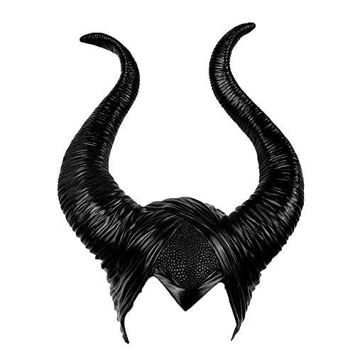 NA. Disfraz de Halloween Gtico Malfica de Halloween para mujer, disfraz de bruja negra malvada sombrero de cosplay para adultos
