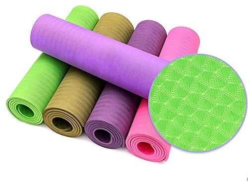 GDFEH Esterilla Yoga Mats de ejercicios Material TPE Material ecológico Amistoso Anti-lágrimas Estera estera de yoga Mat de ejercicios gruesas sin deslizamiento para el estera del gimnasio para el hog