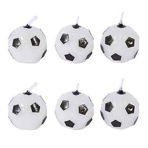 6 Unids Velas de Fútbol Lindo Velas de Cumpleaños Torta Velas para Niños Regalo de Juguete