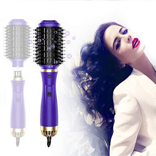 StayGold Staccabile Spazzola Asciugacapelli,Spazzola lisciante per capelli con ioni negativi,5 in1 Spazzola elettrica per capelli,per tutti tipi di Capelli