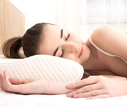 EPABO Contour Memory Foam Pillow Orthopedic Sleeping Pillows, Ergonomic Cervical Pillow for Neck Pain - for Side Sleepers, Back and Stomach Sleepers, Free Pillowcase Included (Soft & Standard Size)