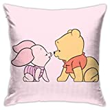 wuhandeshanbao Pillow Cover Cover Winnie The Pooh with Pig Decorative Pillow Case Sofa Seat Car Pillowcase Soft 18x18 Inch
