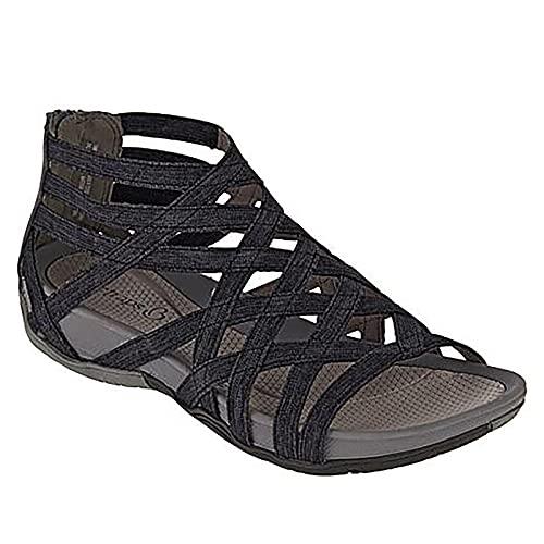 Sandalias Mujer Verano Nuevo 2021 Planas Moda Sandalias de Vestir Playa Chanclas para Mujer Hueca Cordón Zapatos Sandalias de Punta Abierta Roma casual Sandalias Fiesta Cómodo Flip flop Talla grande