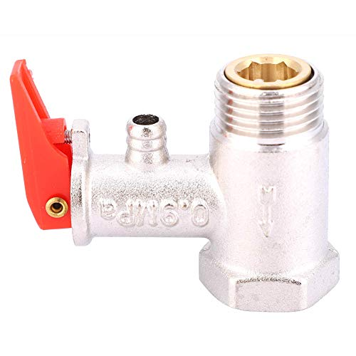 Calentador de agua con válvula de alivio de seguridad de 1 pieza...