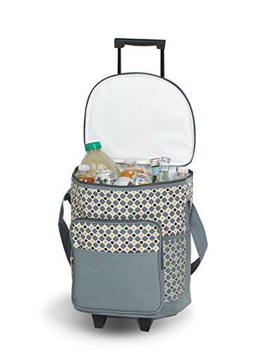 Picnic Plus Dash Rolling Cooler- Mosaic - Rolling Cooler with Insulated Leak Proof Lining