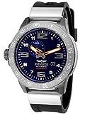 HÆMMER Navy Diver II | Dark Ocean | Herren Automatikuhr aus Edelstahl | Exklusiv Limitierte Taucher-Uhr mit FKM Kautschuk Armband | Wasserdicht bis 300m | Kratzfestes Saphirglas