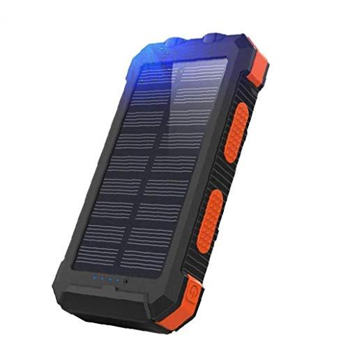 WFIT Cargador Solar Portátil Inalámbrico Cargador 26800mah del Banco Móvil De Alimentación Brújula del Teléfono Móvil De La Energía Solar para El Exterior De Orange