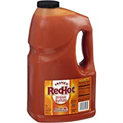 Frank's RedHot Original Buffalo Wings Sauce blends a rich, natural buttery flavor with the signature heat of Frank's RedHot Original for an authentic and consistent buffalo flavor experience Dairy-free, vegetarian, kosher, free from high fructose cor...