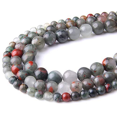 Pulsera de piedra, cuentas redondas pulidas, cuentas de piedra natural para accesorios unisex para yoga, manualidades, collar de 4 6 8 10 12 mm, cadena de 15,5 mm, 10 mm, aproximadamente 38 cuentas