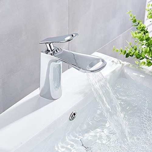 YHSGY Baño Cromo Lavabo Cubierta De Grifo Moutend Con Tapa Monomando De Un Solo Orificio Grifos Mezcladores De Baño