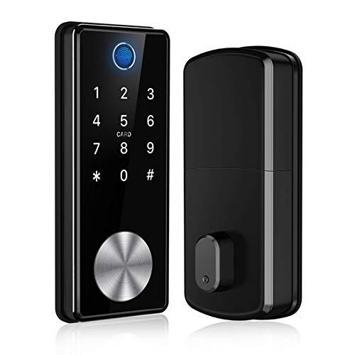 Tiffane Keyless Entry Door Lock Dead bolt, Biometric Fingerprint door lock,Electronic Door Locks with Keypads, Digital Auto Lock Bluetooth Smart Door Locks for Home Office Garage