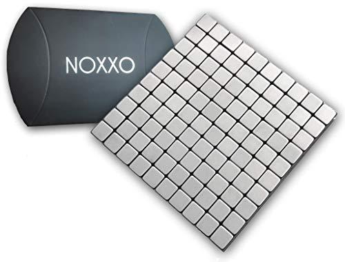NOXXO Neodym Mini Magnetwürfel 3mm 50 oder 100 Stück inkl. Aufbewahrungs Box, für Kühlschrank Pinnwand Büro I 100 Magnete