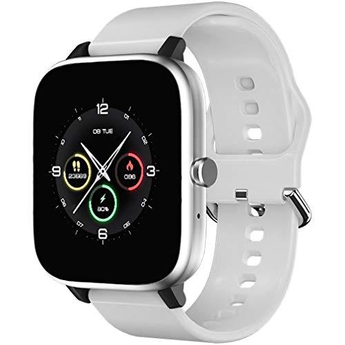 sqmanqi Reloj Inteligente para Hombre Mujer, Smartwatch Pulsera de Actividad Inteligente con Monitor de Sueño Contador de Caloría Pulsómetros Podómetro para Android Xiaomi Samsung Huawei (Blanco)