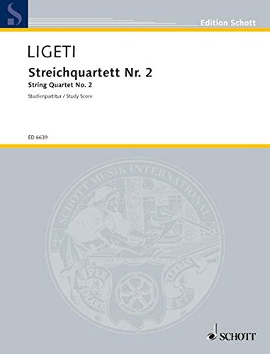 Streichquartett Nr. 2: Streichquartett. Studienpartitur. (Edition Schott)