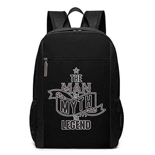 ZYWL The Man The Myth The Legend Laptop Backpack 17-Inch Travel Backpack Bookbag Bussiness Bag