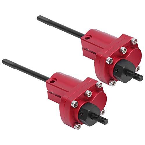 Alomejor RC Auto Achse Hintere Vordere Portalachse mit Lenklenker Getriebewelle Kompatibel mit Axial SCX10 II 90046 90047(rot)