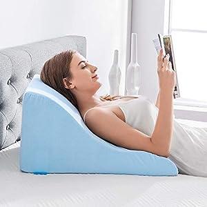 NOFFA Almohadas de lectura - Almohada de cuña de Espuma viscoelástica Apoyo de Espalda Mientras se relaja, Juega, Lectura o Viendo la televisión