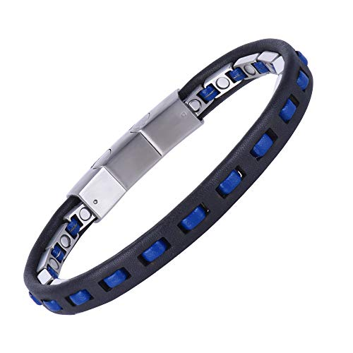 Magnetic Bracelet for Men,Beauty Therapy Leather Magnetic Bracelets Pain Relief Bracelets Magnetic Men