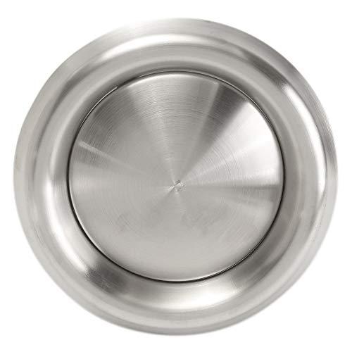 Rejilla de Ventilación de Aire de Acero Inoxidable Cubierta de Ventilación de Pared Salida de Aire para Secadora Tubos de Ventilación Mangueras de Ventilación de Baño (Salida de Aire de 125 mm)