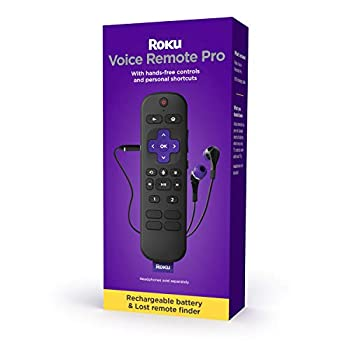 Roku Voice Remote Pro | Rechargeable voice remote with TV controls lost remote finder private listening hands-free voice controls & personal shortcut buttons for Roku players Roku TV & Roku audio