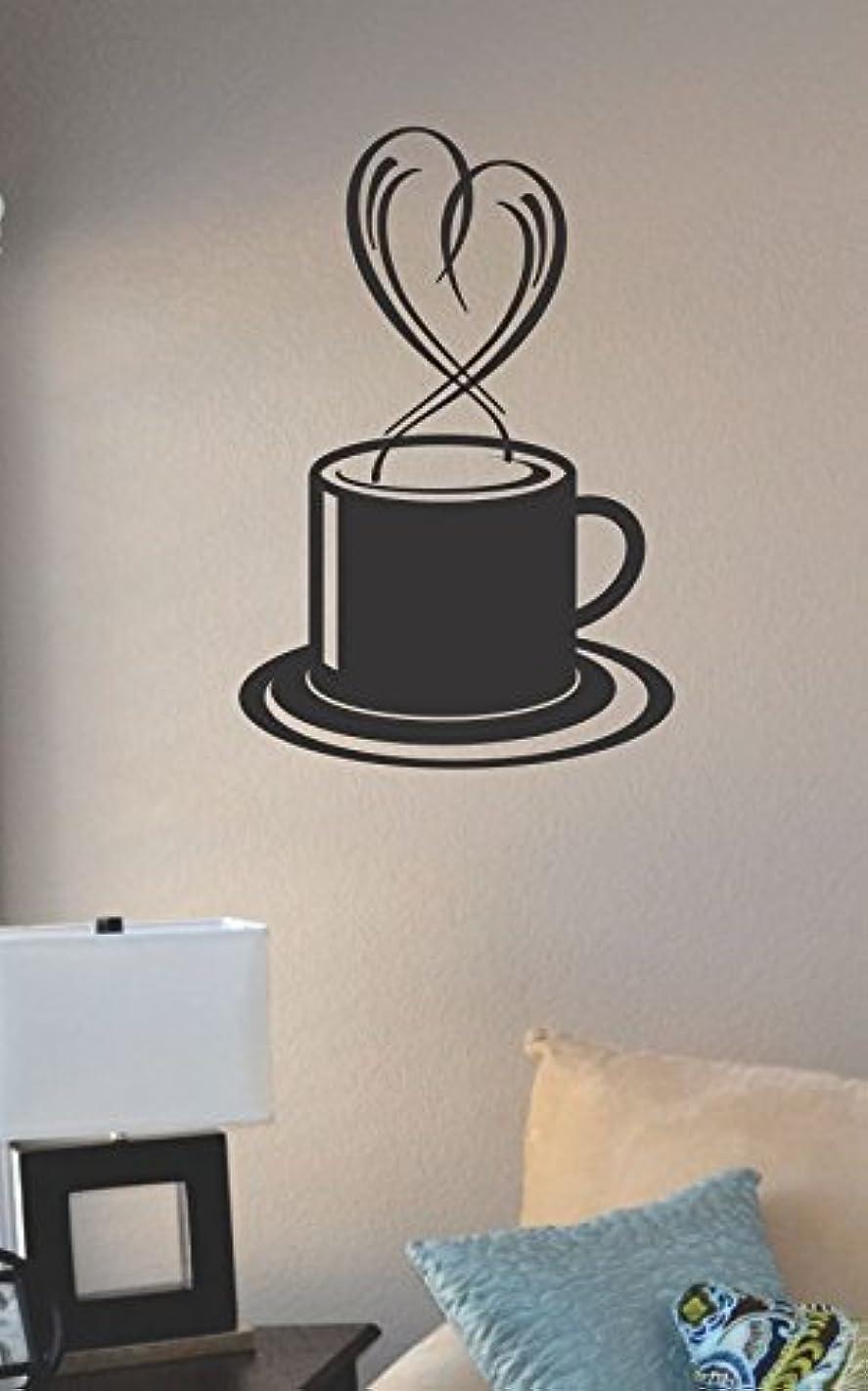JS Artworks Coffee Heart Vinyl Wall Art Decal Sticker
