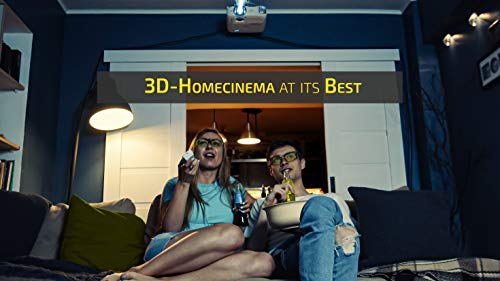 Hi-SHOCK BT/RF Pro Black Diamond | Bluetooth 3D Brille für 3DTV & 3D-RF Beamer von Sony, Epson, Jvc, Samsung, Panasonic [Shutterbrille | 120 Hz | wiederaufladbar | 39g | Funk]