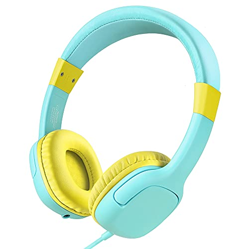41+sfCr+Y2L. SL500  - Kids Headphones for Toddlers Boys,85dB Volume Limiting Hearing Protection with Mic,Foldable Lightweight On Ear Headphones for Child Children,Boy Headphones Earphones Headset for Kids-Blue