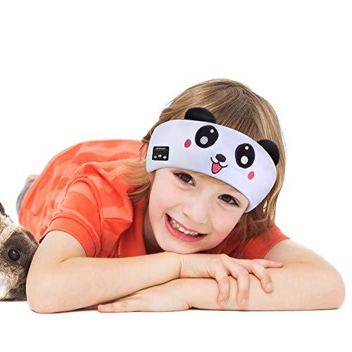 Welltop Auriculares para niños con banda para la cabeza, auriculares para bebé, inalámbricos, para dormir, música, para los ojos, con parlantes extraíbles, banda lavable, limitación de volumen