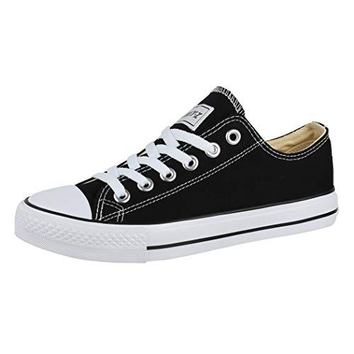 Elara Unisex Sneaker Low top Turnschuh Textil Chunkyrayan 36-46 01-A-Sch-40