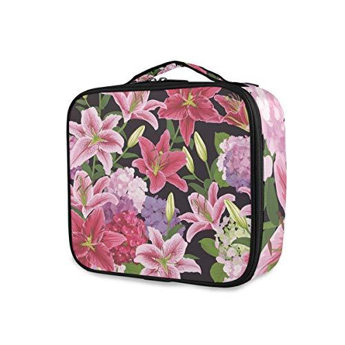 Outils Cosmétique Train Case Maquillage Sac Floral Lys Fleurs Pays Jardin Pochette De Toilette Portable Voyage De Stockage Filles