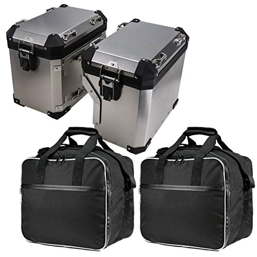 LiHaQin para BMW F800GS ADV R1200G LC R1250GS Motocicleta Bolsas de Equipaje Expandible Bolsas internas para BMW R 1200 GS Adventure 2013-2018 LiHaQin (Color Name : Two Side Boxes Bags)