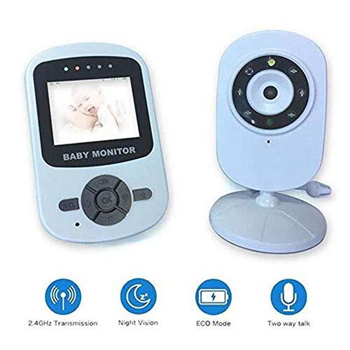 Moniteur de Sommeil de bébé - Vision Nocturne/Conversation à 2 Voies/Moniteur de température/Berceuse, Baby-Sitter Radio Nanny - 2,4 Pouces/LCD sans Fil numérique