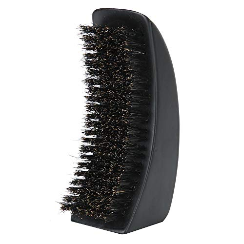 Brosse à barbe, poils à poils avec poignée en bois Rasage Brosse à barbe pour l'entretien de la moustache