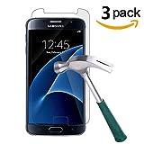 KOFOHO [Lot de 3] Verre Trempé Samsung Galaxy S7, Film Protection Ecran Verre Trempé - [Facile à Installer] [3D-Touch/Dureté 9H] [sans Bulles d'air] - Glass Screen Protector pour Samsung Galaxy S7
