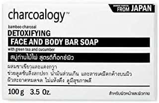 6 of Charcoalogy Bamboo Charcoal Detoxifying Face and Body Bar Soap 100g.