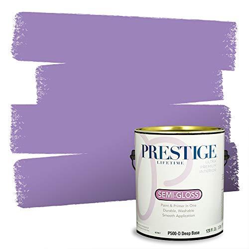 Prestige, Blues and Purples 2 of 8, Interior Paint and Primer In One, 1-Gallon, Semi-Gloss, Dahlia