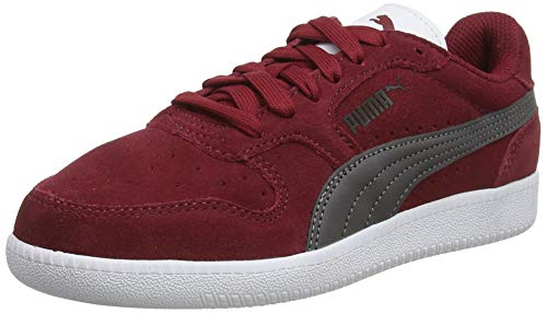 Puma Unisex-Kinder Icra Trainer Sd Jr Sneaker, RotRot (Rhubarb-Castlerock-Puma Black-Puma White 29), 37.5 EU