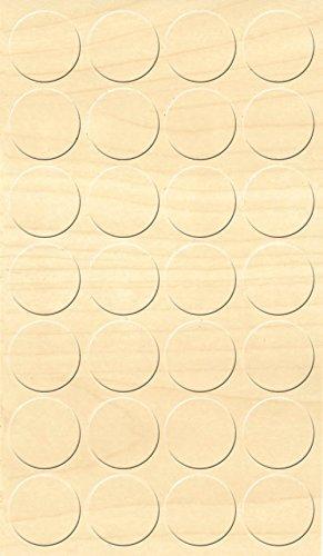 GleitGut Selbstklebende Abdeckkappen für Möbel - Durchmesser 20 mm - 28 Stück - Schrauben-Abdeckungen (Ahorn)
