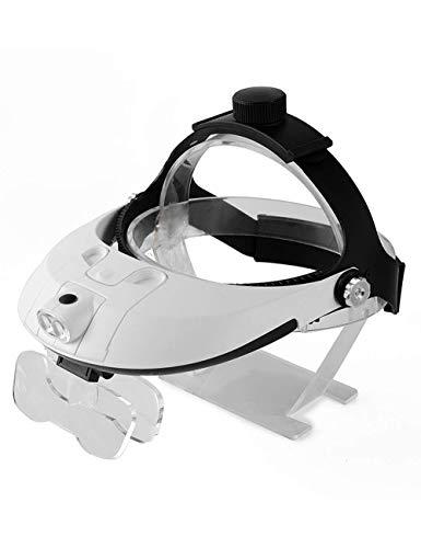YASE-king Head-Mounted-Brille Vergrößerungsglas, Fernglas Chirurgie Micro High-Definition, mit einem LED-Licht, Reparatur Gravur ältere Lese