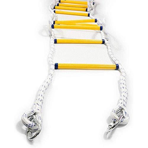 WSJ Echelle d'évacuation d'incendie avec 2 crochets, échelle de grande hauteur avec corde d'évacuation d'urgence, longueur de 16 m ~ 131ft (taille : 5 m), 5m/16ft