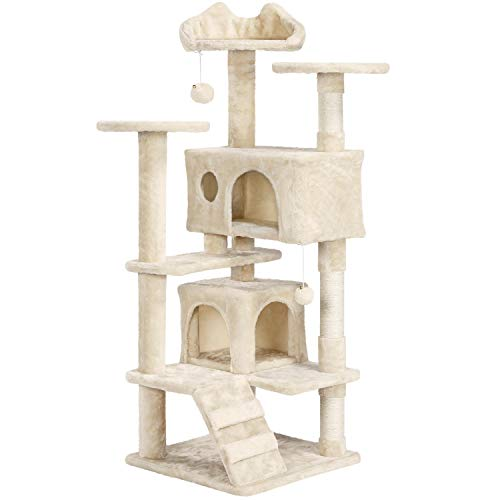 YAHEETECH 54.5' Cat Tree Cat Tower Scratcher Play House Condo Furniture