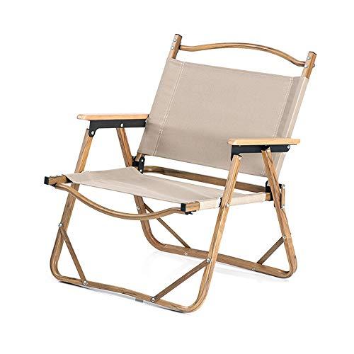Vlook Tragbarer Outdoor-Klappstuhl aus Oxford-Stoff, mit Aluminium-Halterung aus Holzmaserung, schnell zusammenklappbar, stabil und langlebig, für Picknick-Camping am Strand